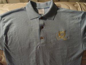 Quiet Grind Light Blue Polo Shirt Yellow QG Logo