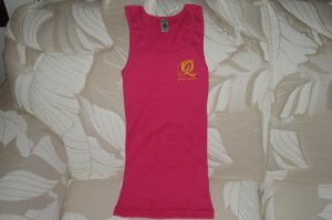 Quiet Grind Fuchsia Female Tank Top Yellow QG Logo