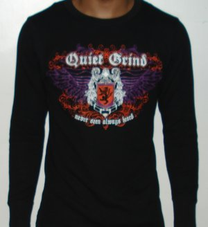 Quiet Grind  Black Thermal Wing Shield Design