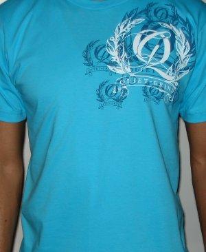 Turquoise Blue Quiet Grind Multi Q Crewneck T-shirt (2 photos)
