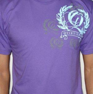 Purple Quiet Grind Multi Q Crewneck T-shirt (2 photos)