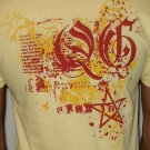 Quiet Grind Yellow Vneck Splash Design (2 photos)
