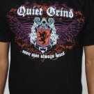 Quiet Grind Black Crewneck Shield Design (2 photos)