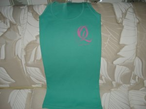Quiet Grind Mint Green Female Tank With QG Logo