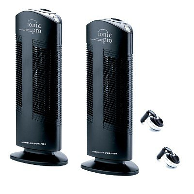 IONIC PRO TWIN PACK COMPACT AIR PURIFIER WITH BONUS TWIN CAR IONIZERS