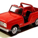 JOHNNY LIGHTNING RED 1967 FORD BRONCO.RARE!!!!