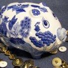 Blue Willow Piggy Bank BRAND NEW