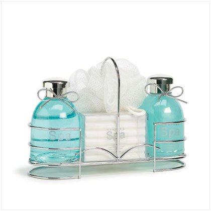 Spa Bottles Set-wire Caddy