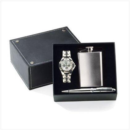 Watch Pen Flask Set