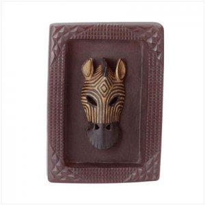 Zebra Mask Plaque