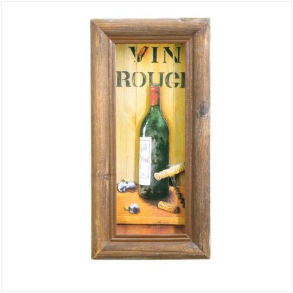 Vin Rouge Shadowbox Art