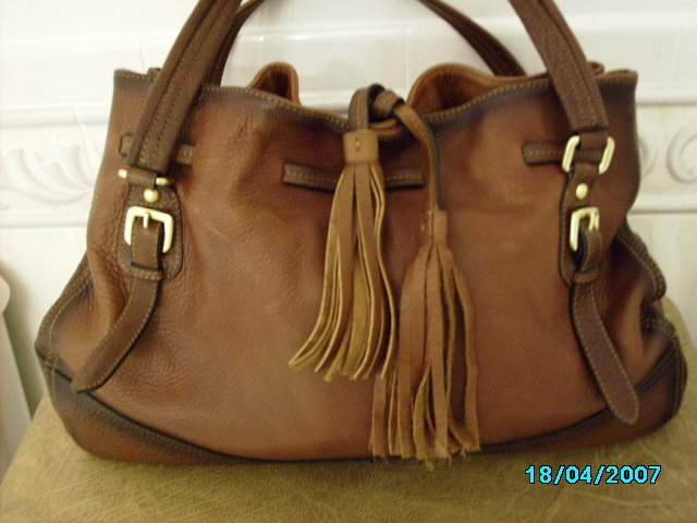 Designer inspired high end deerskin handbag