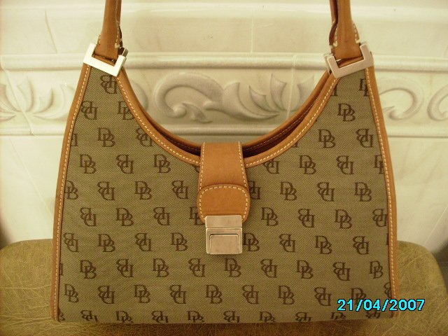 Authentic leather and logo Dooney and Bourke Handbag