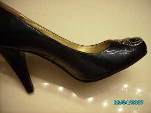 Designer inspired Fancy patent leather pumps