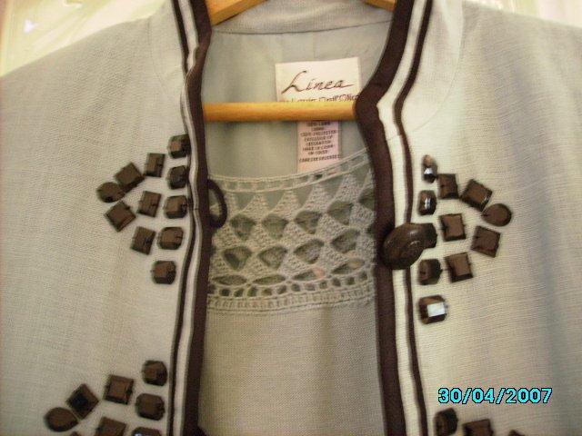 Linea Designer jacket and short sleeved sweater