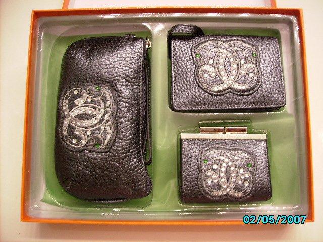 Sharif Designer boxed leather set