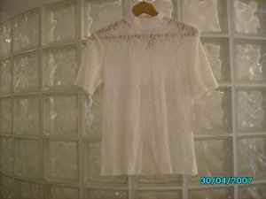 Ladies stretch lace top