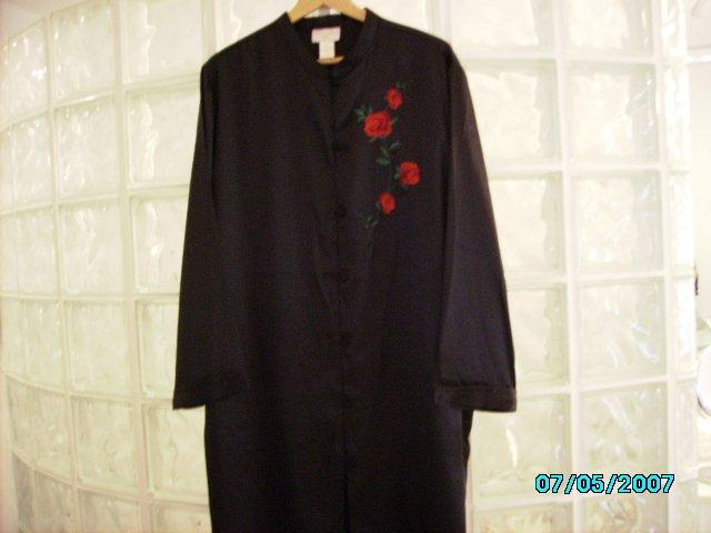 Black satin sleep shirt