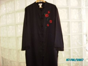Black satin sleep shirt