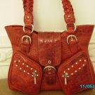 The Find croco embossed leather designer handbag