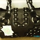Charm and Luck designer leather crystal embellished bag
