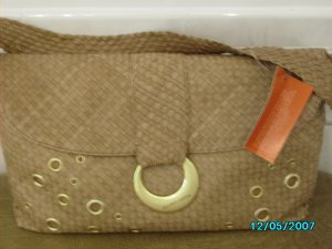 Elliott Lucca woven designer soft leather bag