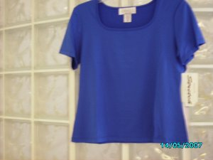 Ladies short sleeved square necked top