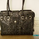 Charlie Lapson croco embossed leather luxery X-large tote bag