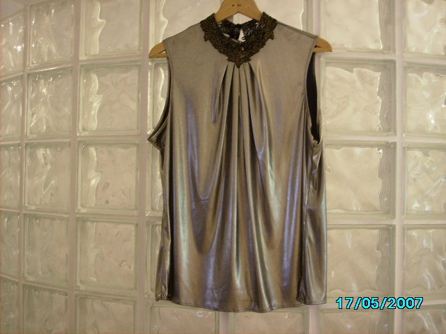 Ladies slinky gold top