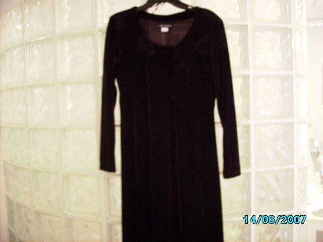 """Citi dress"" stretch velour empire style dress"