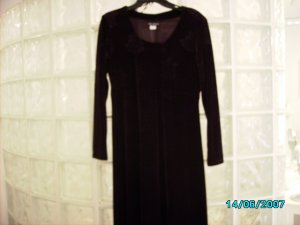 """Citi dress"" stretch velour empire style dress"