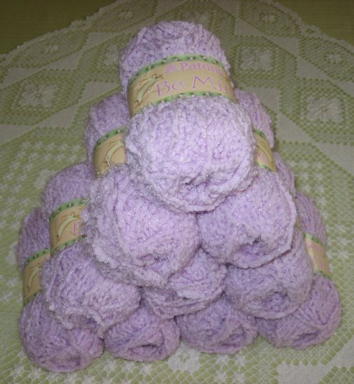 "$50 Lot--10 Skeins Patons Be Mine ""Lovely Lilac"" Yarn + Free Gift!"