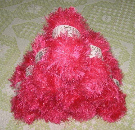 "$60 Lot--10 Skeins Moda Dea Zing ""Pink Cosmo"" Yarn + Free Gift!"