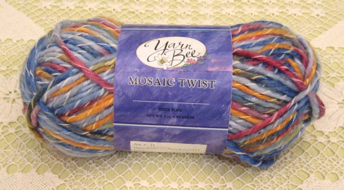 "Yarn Bee Mosaic Twist ""Terra Rosa"" Yarn ~ 1 Skein ~ $3"