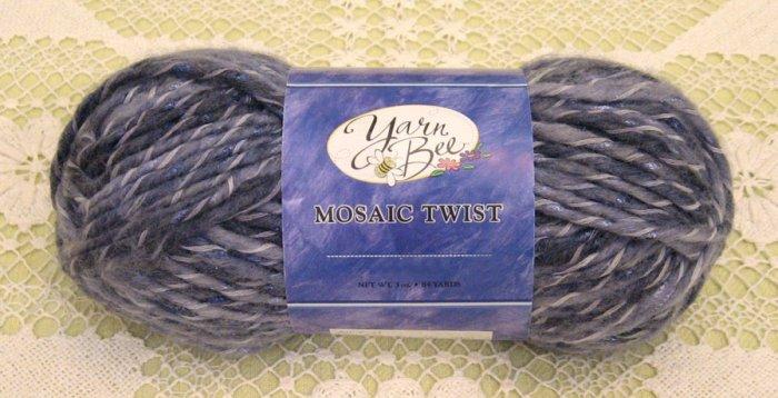 """Yarn Bee Mosaic Twist """"Moody Blue"""" Yarn ~ 1 Skein ~ $4"""