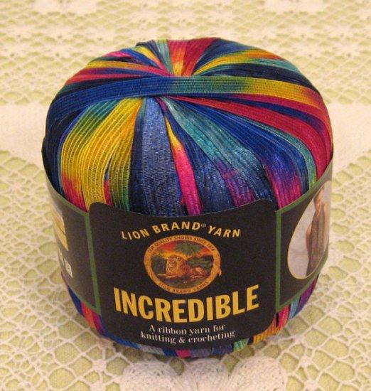"Lion Brand Incredible ""Rainbow"" Yarn ~ 1 Skein ~ $4"