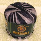"Lion Brand Incredible ""Accent on Black"" Yarn ~ 1 Skein ~ $4"