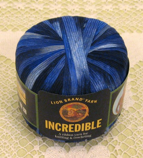 "Lion Brand Incredible ""Blue Shades"" Yarn ~ 1 Skein ~ $4"