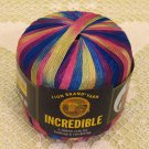 "Lion Brand Incredible ""Carnival"" Yarn ~ 1 Skein ~ $4"