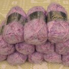 "$80 Lot--12 Skeins Glittallic ""Lilac Lame"" Yarn + Free Gift!"