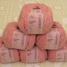 "$60 Lot--6 Skeins Rowan RYC Alpaca Soft ""Old Rose"" Yarn + Free Gift!"