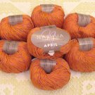 "$70 Lot--10 Skeins Nashua April ""Coral"" Cotton Yarn + Free Gift!"
