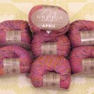 "$70 Lot--10 Skeins Nashua April ""Hot Pink"" Cotton Yarn + Free Gift!"