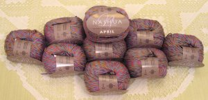 "$70 Lot--10 Skeins Nashua April ""Lavender Blue"" Cotton Yarn + Free Gift!"