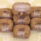 "$70 Lot--10 Skeins Nashua April ""Warm Brown"" Cotton Yarn + Free Gift!"