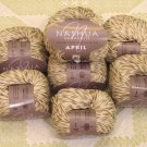 "$70 Lot--10 Skeins Nashua April ""Naturals"" Cotton Yarn + Free Gift!"
