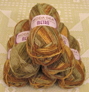 "$39 Lot--6 Skeins Moda Dea Metro ""Safari"" Yarn + Free Gift!"