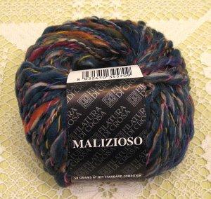 """Filatura Di Crosa Malizioso """"9 Blue Multi"""" Yarn ~ 1 Skein ~ $4"""
