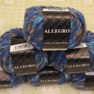"$81 Lot--6 Skeins Filatura Di Crosa Allegro ""10 Blue Multi"" Yarn + Free Gift!"