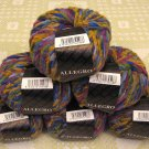 "$81 Lot--6 Skeins Filatura Di Crosa Allegro ""9 Purple Multi"" Yarn + Free Gift!"